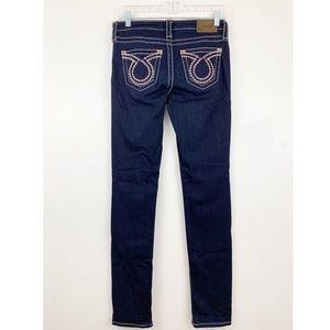 Big Star Liv Skinny Jeans Dark Wash  Wide Stitch